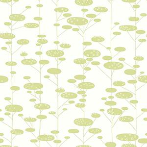 Retro Trees Green Wallpaper