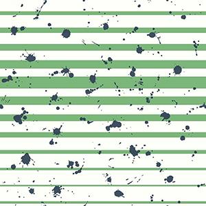 Splatter Stripe Green Wallpaper