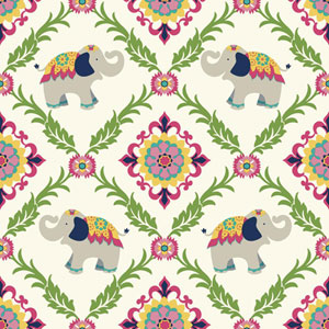 Waverly Kids White and Pink Bollywood Wallpaper