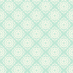 Waverly Kids Aqua and White Lotus Wallpaper