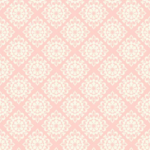 Waverly Kids Pink and White Lotus Wallpaper