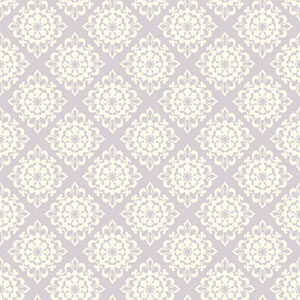 Waverly Kids Light Purple and White Lotus Wallpaper