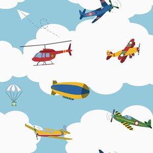 Waverly Kids Multicolor In The Clouds Wallpaper