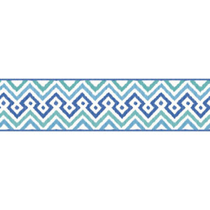 Waverly Kids Blue and Teal Painted Meadow Border