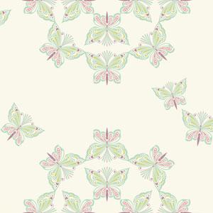 Waverly Kids White and Mint Ipanema Wallpaper