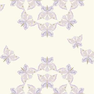 Waverly Kids White and Purple Ipanema Wallpaper