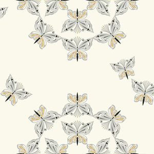 Waverly Kids Off-White and Metallic Silver Ipanema Wallpaper