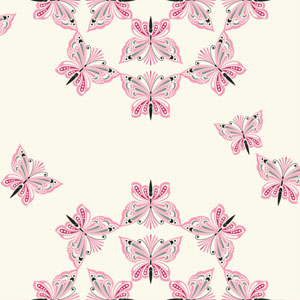 Waverly Kids White and Hot Pink Ipanema Wallpaper