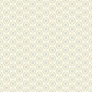 Waverly Kids Silver and Metallic Gold Chantal Wallpaper