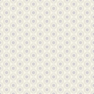 Waverly Kids Lavender and Pale Metallic Gold Chantal Wallpaper
