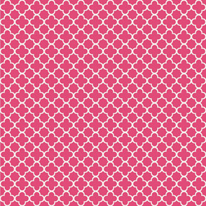Waverly Kids Hot Pink and White Framework Wallpaper
