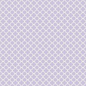 Waverly Kids Light Purple and White Framework Wallpaper