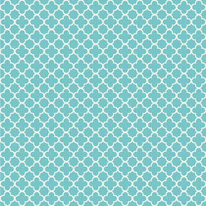 Waverly Kids Turquoise and White Framework Wallpaper