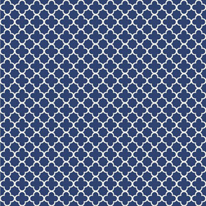 Waverly Kids Navy Blue and White Framework Wallpaper