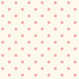 Waverly Kids White and Pink Circle Sidewall Wallpaper