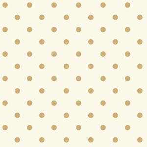 Waverly Kids White and Metallic Gold Circle Sidewall Wallpaper