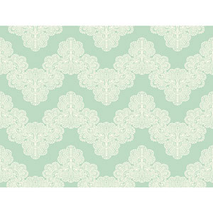 Waverly Kids Aqua and White Airwaves Wallpaper