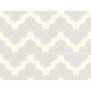 Waverly Kids White and Light Purple Airwaves Wallpaper