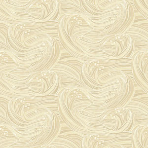 Waverly Kids Beige and Cream Ride The Wave Wallpaper