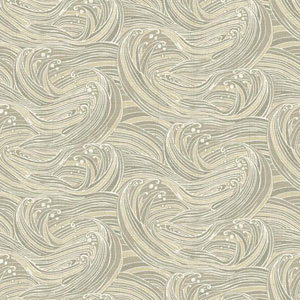 Waverly Kids Taupe and Beige Ride The Wave Wallpaper