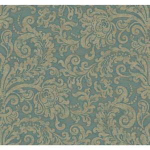 Williamsburg II Teal Wallpaper