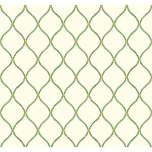 Williamsburg II Green Wallpaper