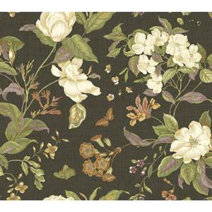 Williamsburg Black and White Garden Images Wallpaper