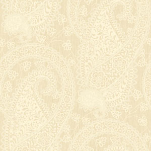 Williamsburg Beige and Cream Ashland Wallpaper