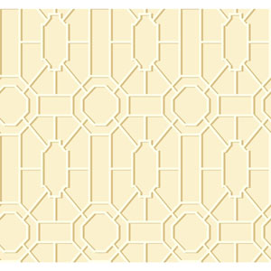 Williamsburg Cream and Tan Dickinson Trellis Wallpaper