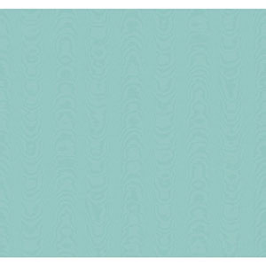 Williamsburg Teal and Aqua Palace Moire Wallpaper