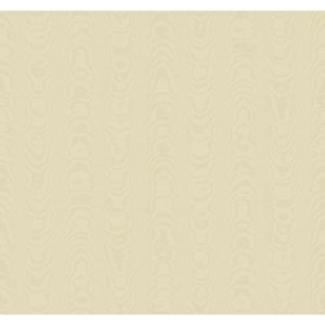 Williamsburg Cream and Beige Palace Moire Wallpaper