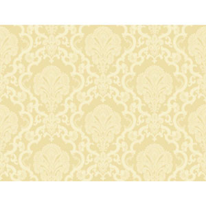 Williamsburg Metallic Gold and Cream Halifax Lace Wallpaper