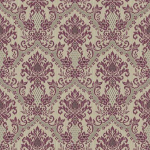 Waverly Small Prints Bedazzled Grey and Plum Wallpaper