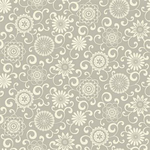 Waverly Small Prints Pom Pom Play Cream and Shining Silver Wallpaper