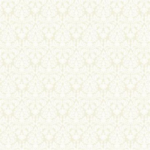 Waverly Small Prints Essence White on Silvered Pearl Wallpaper