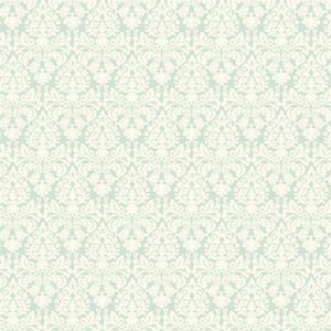 Waverly Small Prints Essence Aquamarine and White Wallpaper
