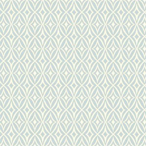 Waverly Small Prints Centro Blue and Gray Wallpaper