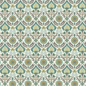Waverly Small Prints Santa Maria Multicolor Wallpaper