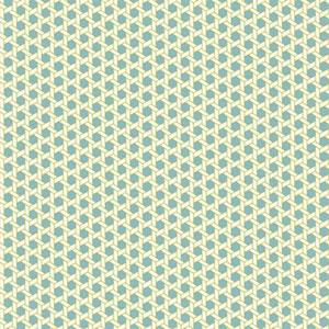 Waverly Small Prints Shoji Blue and Green Wallpaper
