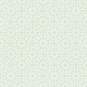 Waverly Small Prints Starry Eyed Aquamarine and Cream Wallpaper