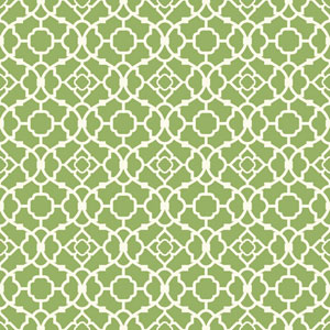 Waverly Global Chic Green and White Lovely Lattice Wallpaper