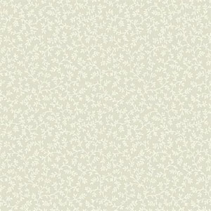 Waverly Small Prints Arbor Trail Pale Grey and Cream Wallpaper