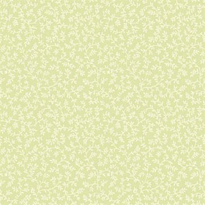 Waverly Small Prints Arbor Trail Pale Celery Green and Cream Wallpaper