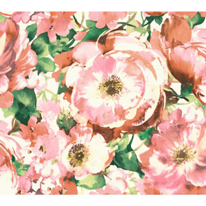 Carey Lind Watercolors White and Pink Watercolor Poppy Wallpaper