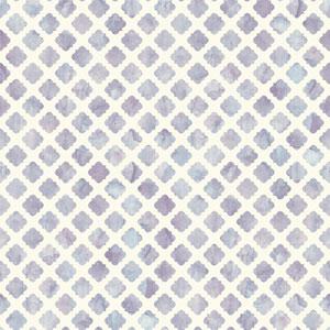Carey Lind Watercolors White and Lavender Artisan Tile Wallpaper