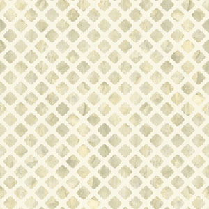 Carey Lind Watercolors White and Taupe Artisan Tile Wallpaper