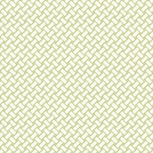 Carey Lind Watercolors White and Green Basketweave Wallpaper