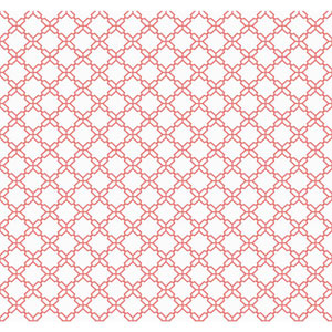 Carey Lind Watercolors White and Red Geometric Trellis Wallpaper