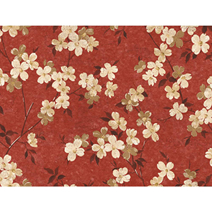 Inspired by Color Burgundy, Butter Yellow and Brown Wallpaper