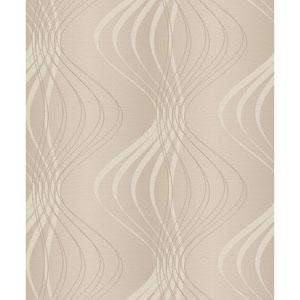 Glam Beige and Cream Wind Sculpture Wallpaper